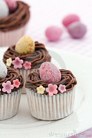 Free Easter Cupcakes Royalty Free Stock Image - 12826246