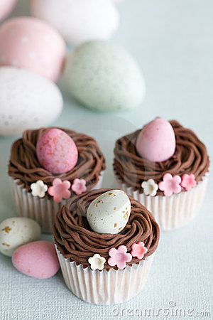 Free Easter Cupcakes Stock Photography - 13331452