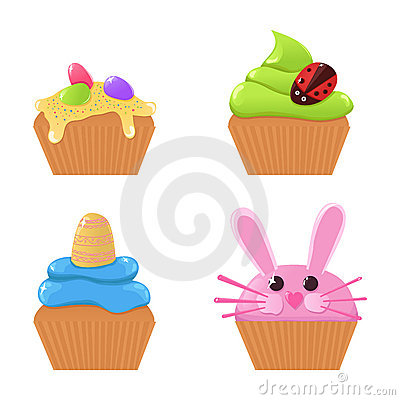 Free Easter Cupcakes Royalty Free Stock Image - 18040386