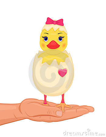 Easter cute chick