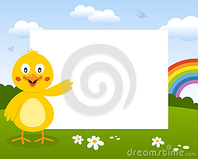 Easter Cute Chick Photo Frame