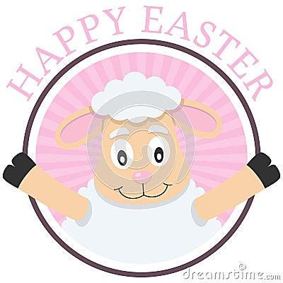 Easter Cute Lamb Greeting Card