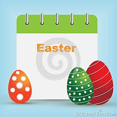 Easter day calendar