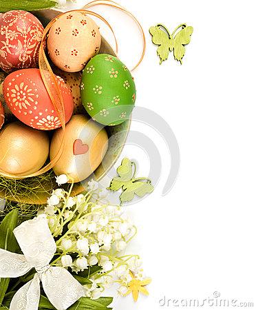 Free Easter Decorations, Ornate Page Border Royalty Free Stock Photos - 37216198