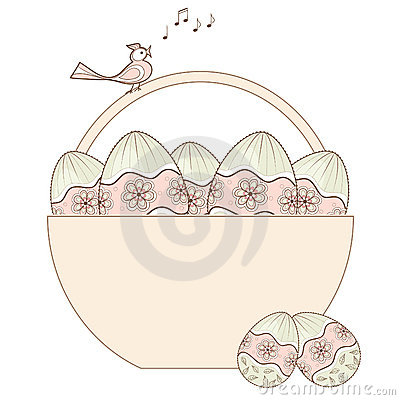 Easter design with basket