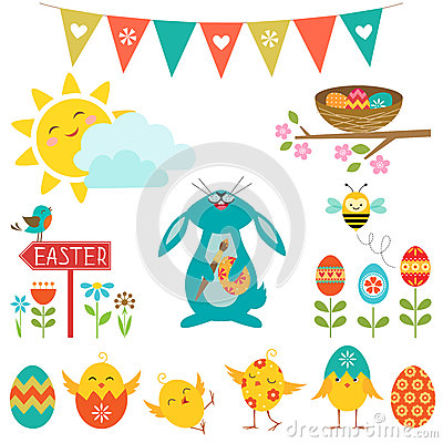 Free Easter Design Elements Royalty Free Stock Image - 38418766