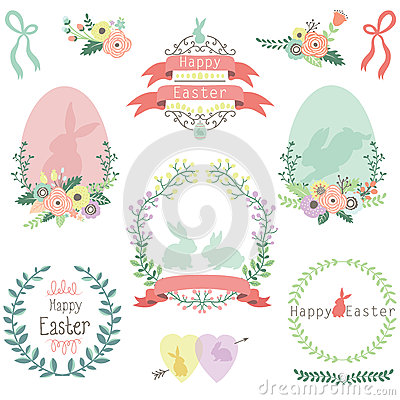 Free Easter Design Elements Royalty Free Stock Photos - 57520268
