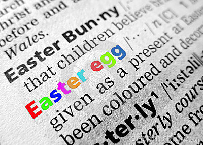 Easter in dictionary