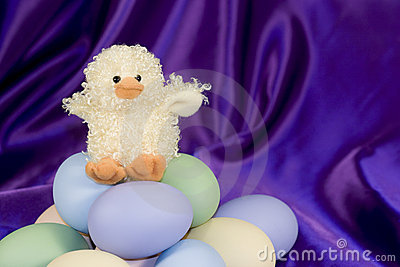 Easter Duck with Eggs - Horizontal