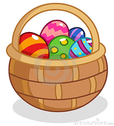 Free Easter Egg Basket Stock Photography - 23739242
