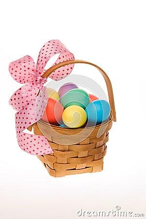 Free Easter Egg Basket Stock Image - 4347221