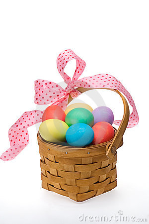 Free Easter Egg Basket Royalty Free Stock Photography - 4347227