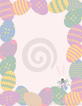 Free Easter Egg Border With Bunny Stock Image - 2068171