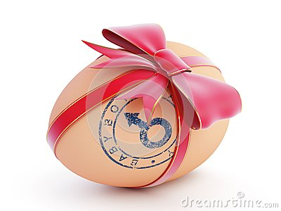 Easter egg boy gift with bow