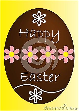 Easter egg card design