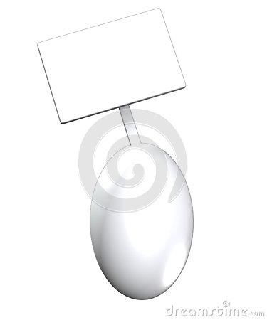 Egg With Blank Sign