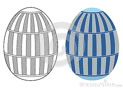 Easter egg design Vector Illustration