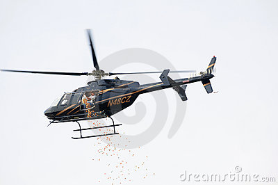 Easter egg drop Editorial Stock Image
