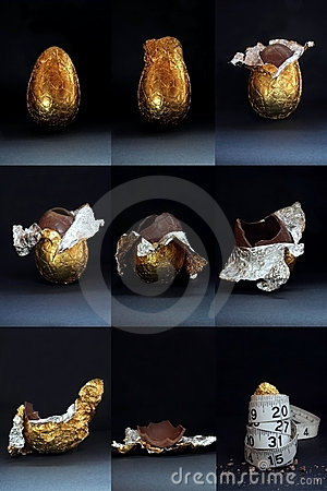 Easter Egg - Eaten With Guilt Royalty Free Stock Photo - Image: 639455