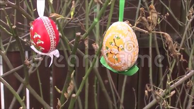 Easter egg stock footage