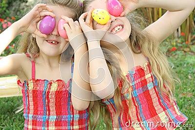 Easter egg eye children