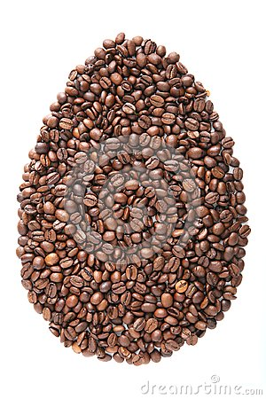Free Easter Egg From Coffee Beans And Species Isolated On White Background Royalty Free Stock Photography - 108824807