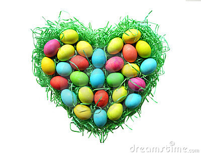 Easter Egg Heart Nest