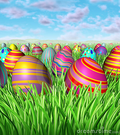 Free Easter Egg Hunt Royalty Free Stock Images - 22995639
