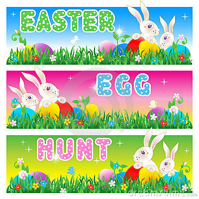 Easter Egg Hunt invitation, card, poster