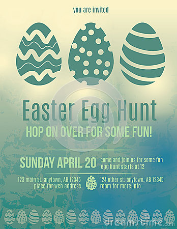 Free Easter Egg Hunt Invitation Flyer Royalty Free Stock Image - 38899036