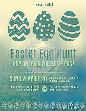 Easter Egg hunt invitation flyer
