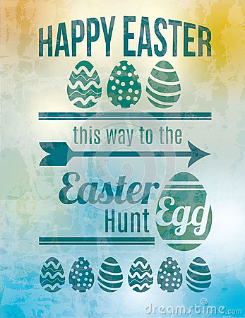 Free Easter Egg Hunt Sign Stock Photos - 38899063