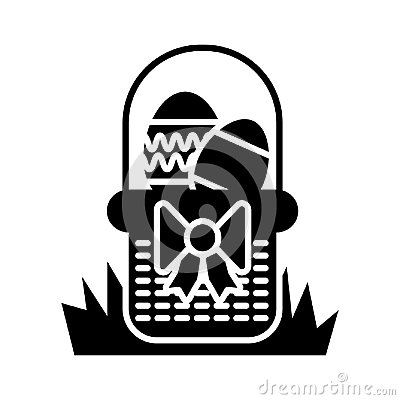 Free Easter Egg In Basket Vector Icon. Line Flat Icon On White Background. Solid Design. Eps 10 Royalty Free Stock Photos - 109853238