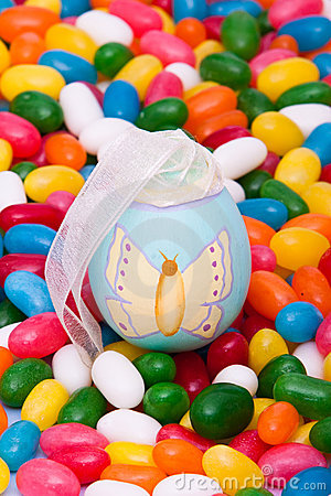 Easter egg on jellybeans