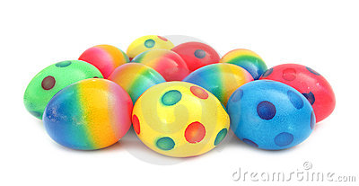 Easter egg lovely colorful painted with spots