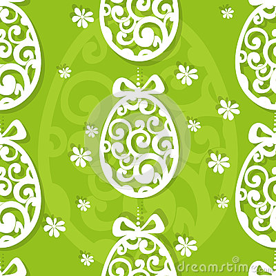 Easter egg openwork seamless background