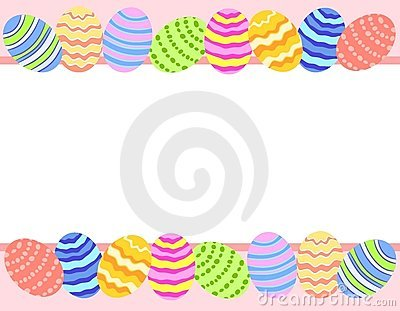 Easter Egg Photo Background Border