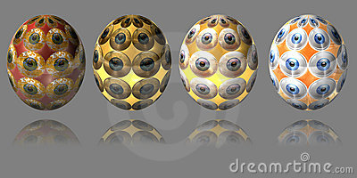Easter Egg Set - Eye Royalty Free Stock Photos - Image: 13139148