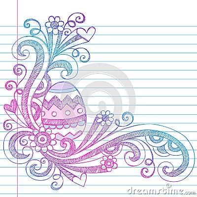 Easter Egg Spring Sketchy Doodles Vector