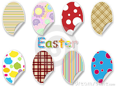 Easter egg sticker set