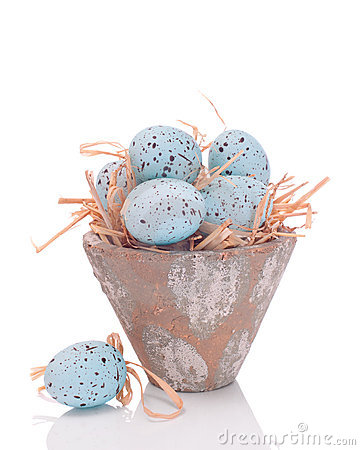 Easter Egg On Straw