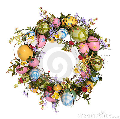Free Easter Egg Wreath Stock Image - 1753891