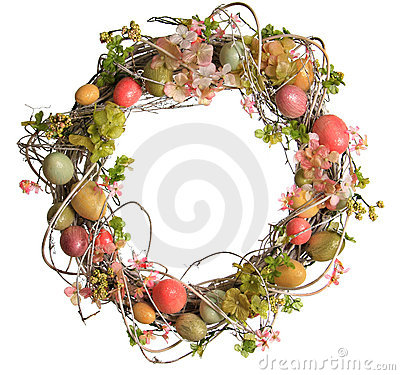 Free Easter Egg Wreath Royalty Free Stock Photography - 18400927