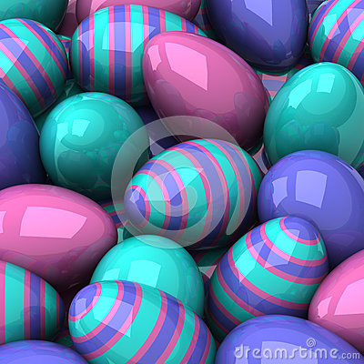 Free Easter Eggs Background 3d Royalty Free Stock Image - 29355996