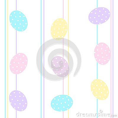 Easter eggs background / Seamless pattern