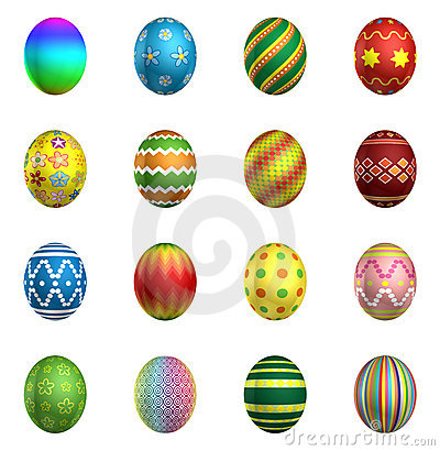Free Easter Eggs, Big Pack Collection 2 Stock Image - 20403051