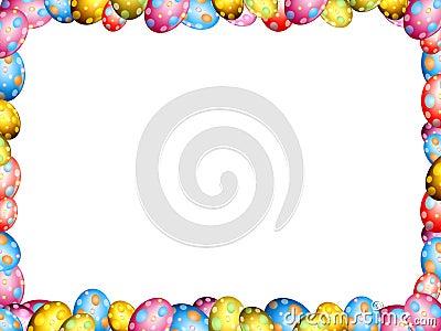 Easter eggs border frame