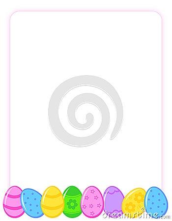 Easter Egg Border Clip Art