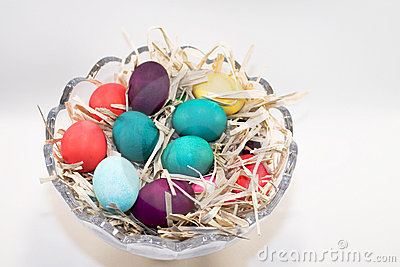 Easter eggs in bowl