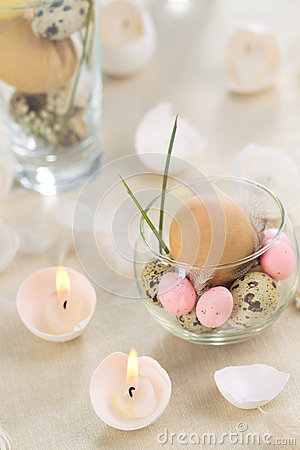 Easter eggs-candles